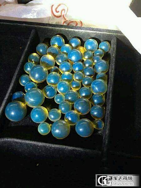 多米蓝珀 顶级圆珠 颗颗晶莹剔透,高净水无杂,不多说。_珠宝