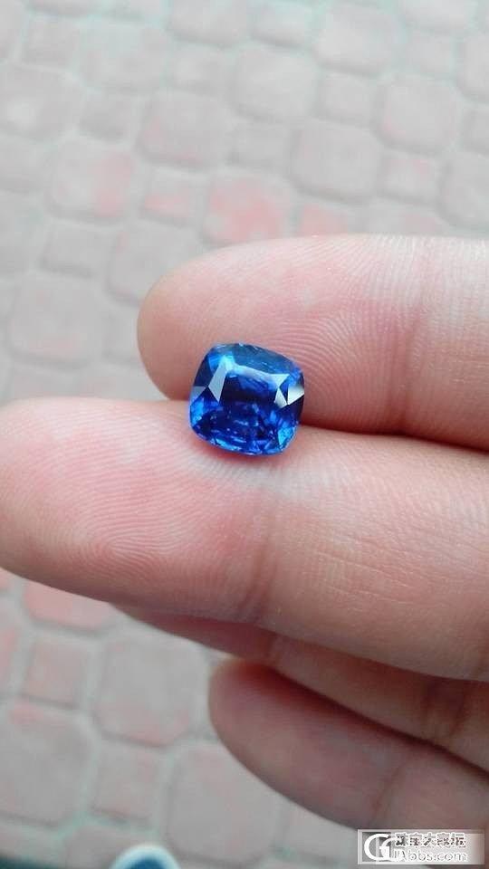 上个图,大家帮看看品质,证书grs在做中_蓝宝石