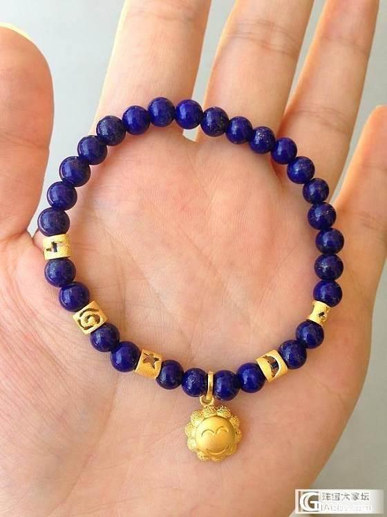 [彩宝水晶] [个人闲置] 转5.8mm青金手链,珍珠项链,琉璃手链,顺便求个甜甜圈_珠宝