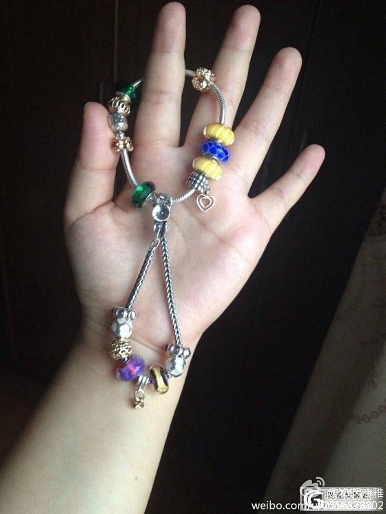 也晒晒今天戴的手链,银饰也能流光溢彩。_手链银