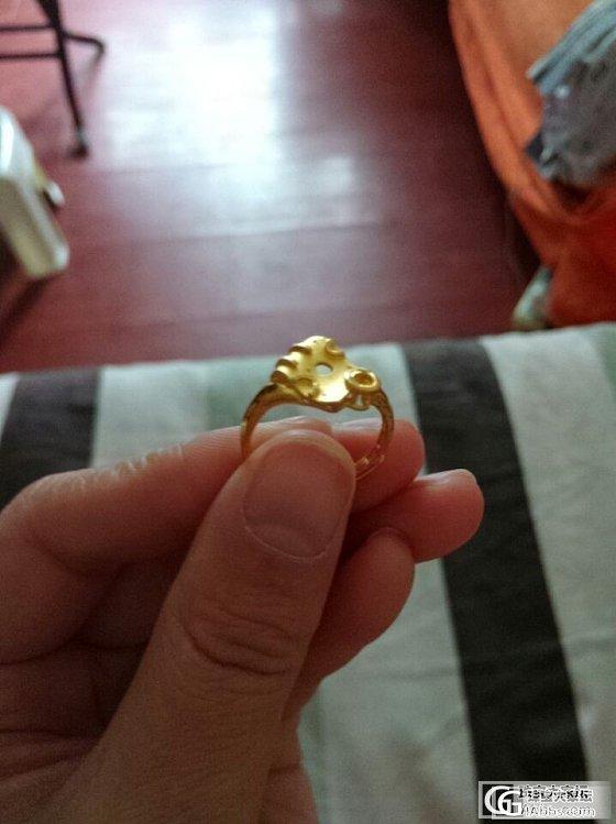 招金家入手的戒指~~_戒指金