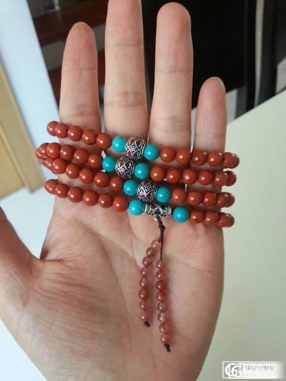 试转两条佛珠,一条南红一条老蜜蜡的。也可交换银镯。_有机宝石