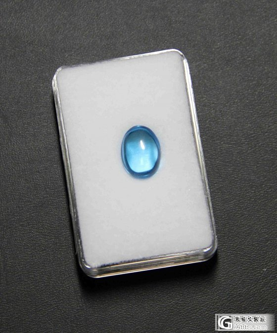 晒个小蓝蛋吧_托帕石刻面宝石