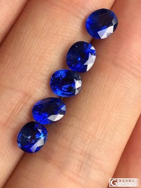 新入的一手一卡以上蓝宝石,很喜欢的哦,好货难找……_宝石蓝宝石刻面宝石