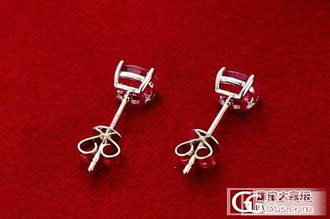 跪求团长来帮忙,一手旦形刻面4X6mm天然红宝石,初定团镶经典四爪耳钉,欢迎来讨论_珠宝
