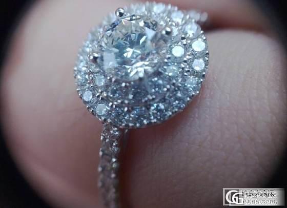 定制的钻戒,钻不是很大,但是还是蛮喜欢的~~_钻石