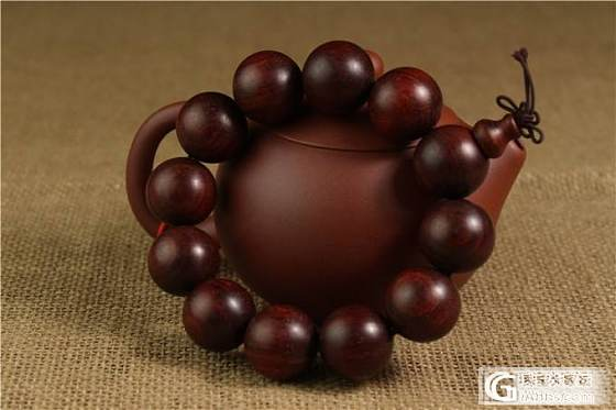 【稀饭香铺】超霸气 高密度印度小叶紫檀2.0手串_文玩