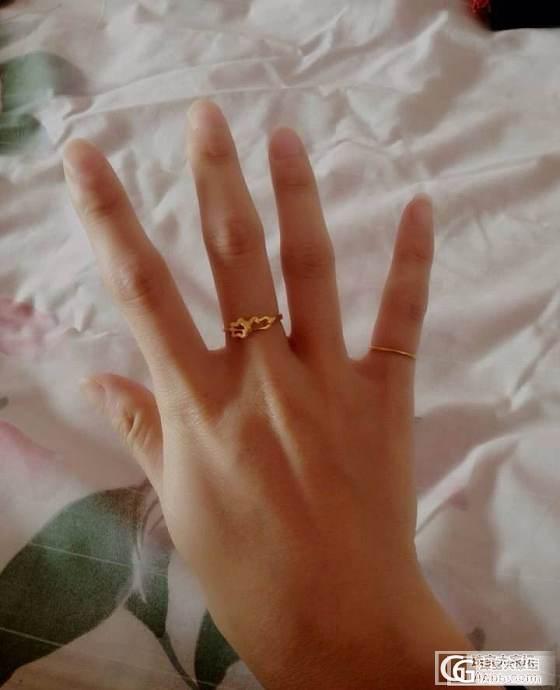 新手初发帖~秀秀最近刚入手的小戒指~求勿喷_戒指金