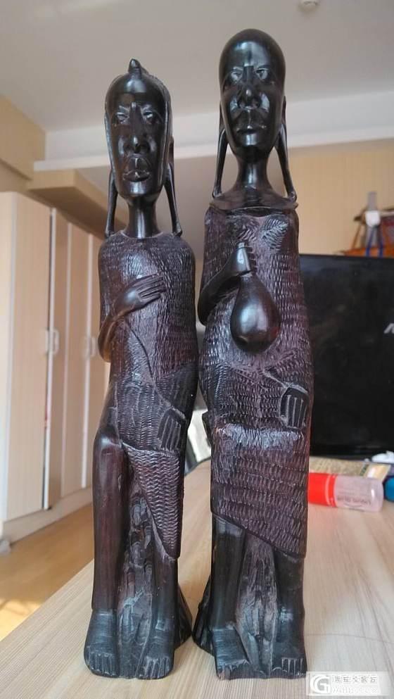非洲黒木雕--坦桑尼日,一对马赛人_木