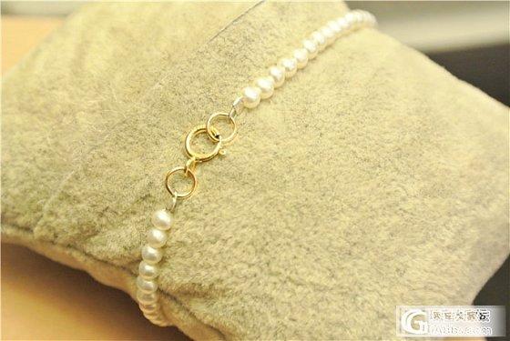 MIKIMOTO款 3-4mm极细手链 14K包金永不褪色_珠宝