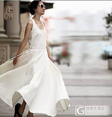 [转卖]若溯 无袖棉麻背心大摆连衣裙 原创文艺纯色圆领长裙子_品质生活