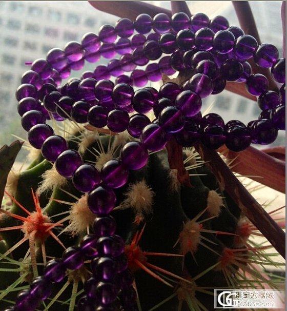 中三价格的乌拉圭紫水晶_珠串紫水晶
