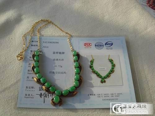天然A货翡翠满绿阳绿戒面项链一条带证书_翡翠