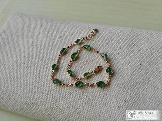【十月】绿色随形手链 售价:4600_十月花嫁翡翠