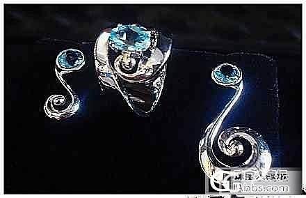 独家设计打造的海蓝宝石一套,请斧正_海蓝宝