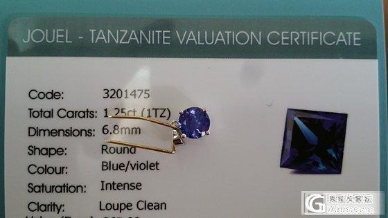 新人报道,旅游时候买的小小坦桑石一只_坦桑石刻面宝石