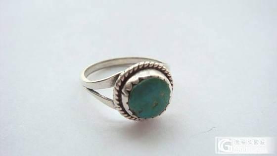 老绿松石银戒指,手链_银