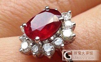 缅甸无烧鸽血红红宝戒指grs证书_红宝石