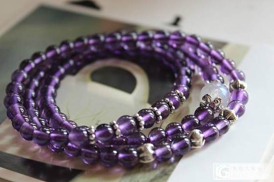 DIY的那些紫水 月光 石榴_月光石