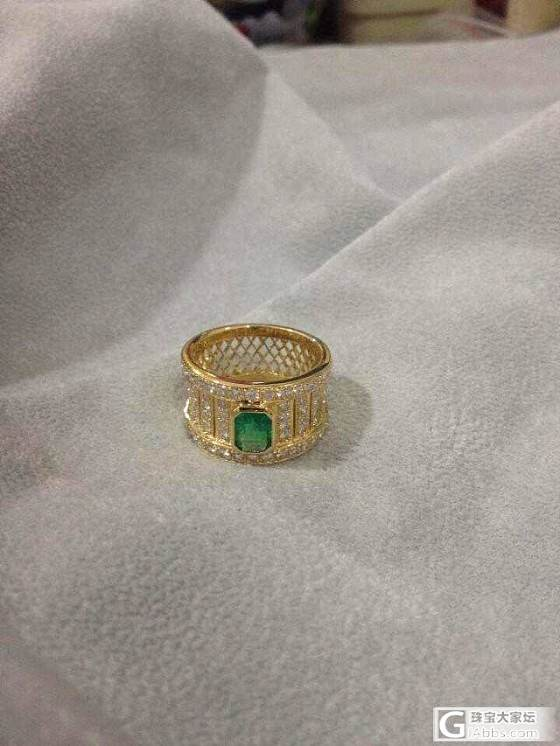AMO珠宝 18K金镶嵌粉色蓝宝石/祖母绿戒指 回复可见价格_宝石