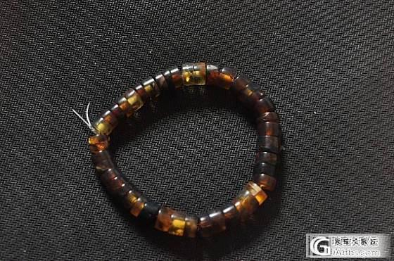 价低的天然琥珀手链3条_有机宝石