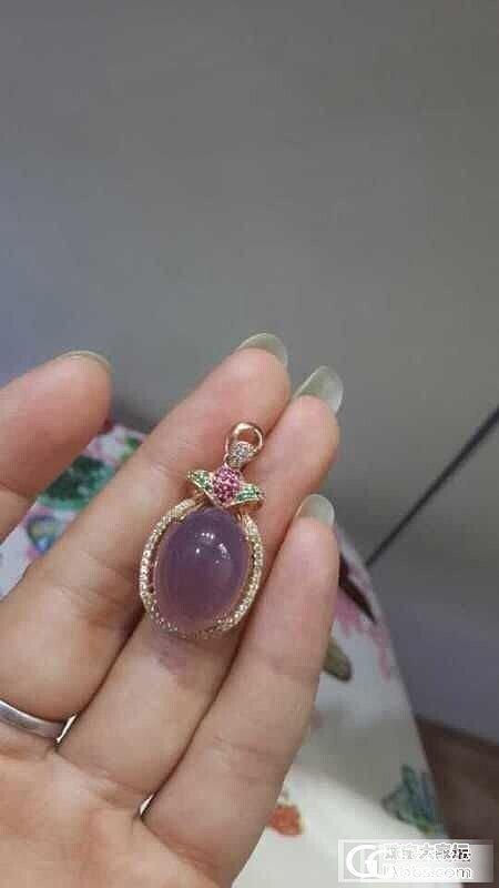 天然紫玉髓,锆石天然形成的彩色。求认证_和田玉