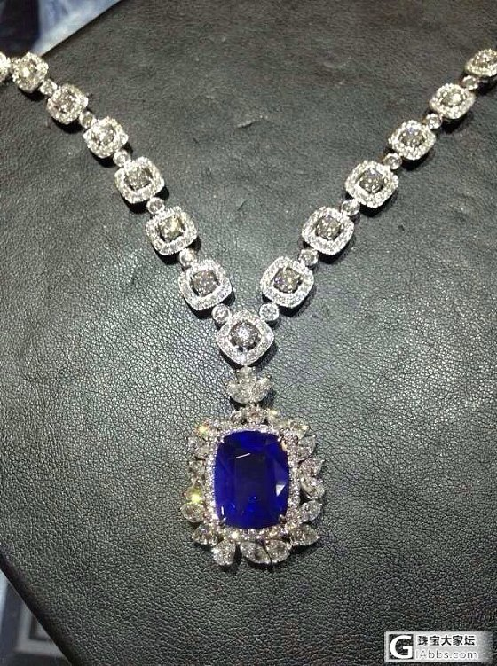 【再鉴赏】12ct斯里兰卡皇家蓝~做成项链后附图_蓝宝石