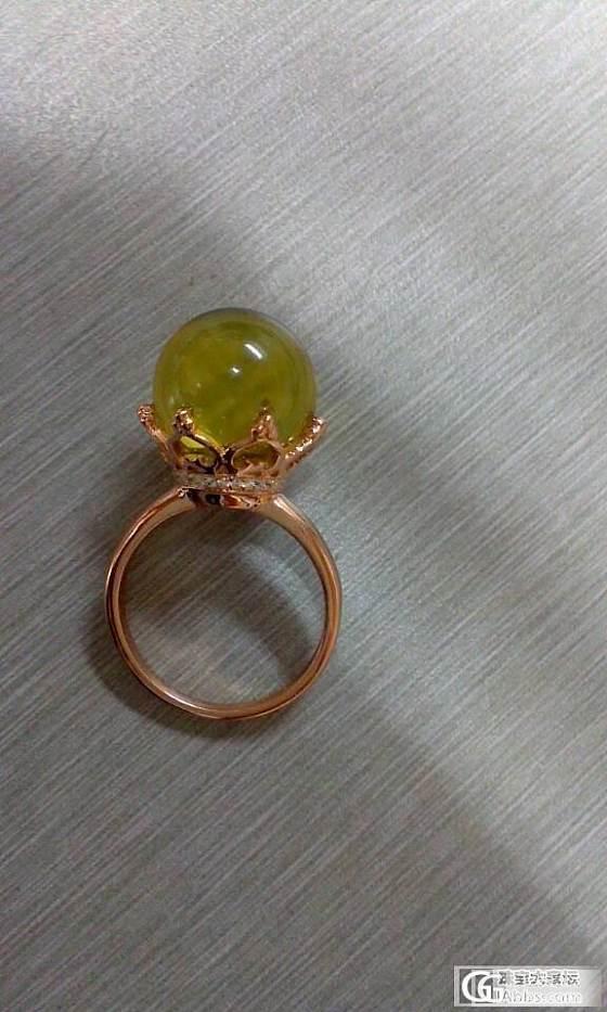 哇哈哈,我的皇冠戒指来了,大猪一枚,等得我都要长发及腰了~~_有机宝石
