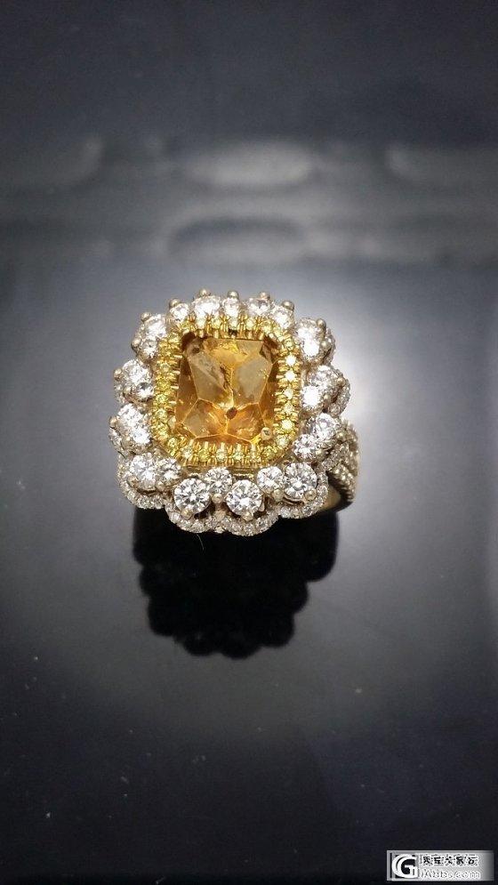 两用克啦黄钻戒指、吊坠_钻石