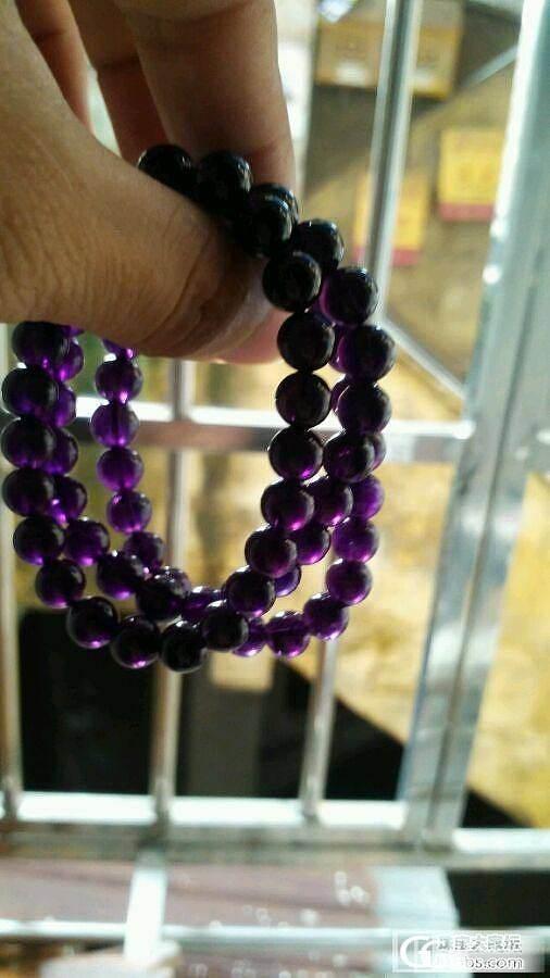 乌拉圭紫水晶,买了三串,大家看看怎么样_水晶