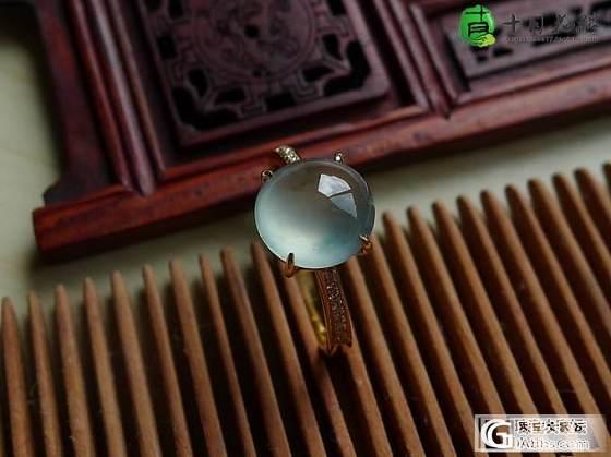 【十月】蓝花蛋面 戒指 售价:1800_十月花嫁翡翠