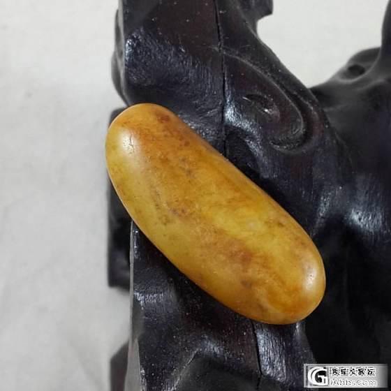 【暖枫阁】18号和田玉黄沁籽料原石一个 14.3g_传统玉石