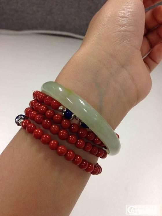 [更新上手照]今天珠宝展入的小小镯一只_翡翠