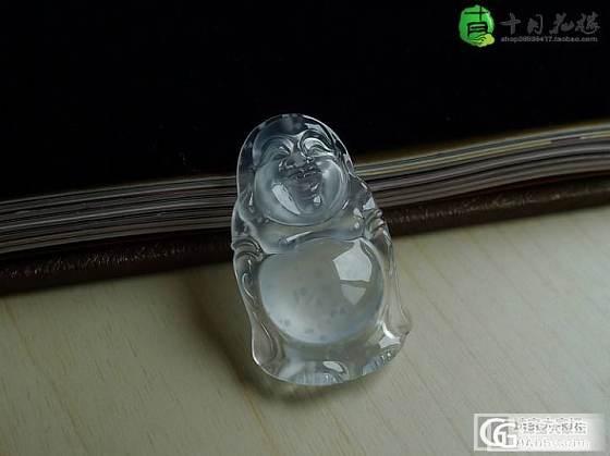 【十月】玻璃种 雪花棉 佛公 售价:15800_十月花嫁翡翠