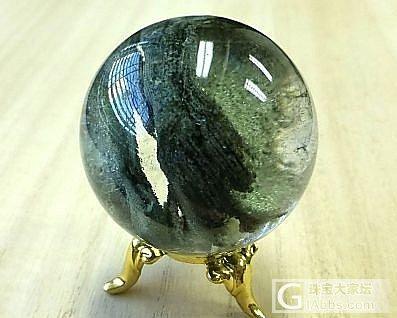 绿幽灵水晶球,直径39mm,重80克。求估价_幽灵晶
