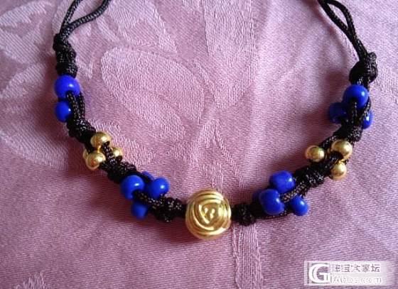 还图,1 颗双面玫瑰珠 + 8 颗小金珠,新编了手绳,有闪必还_编绳金福利社