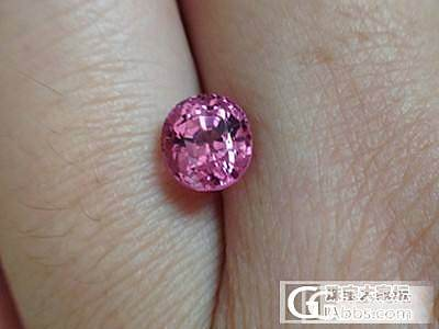1.34克拉粉色椭圆刻面全火彩尖晶石_宝石