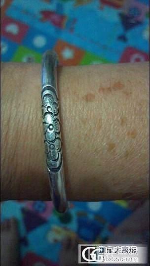 这个给妈妈买的一对镯子,是真的纯银吗_手镯银