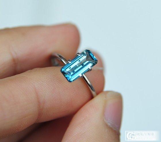 稀有老料!1.64ct祖母绿切割似帕拉依巴纯蓝色碧玺,1200/ct,NGTC_莫桑石宝石