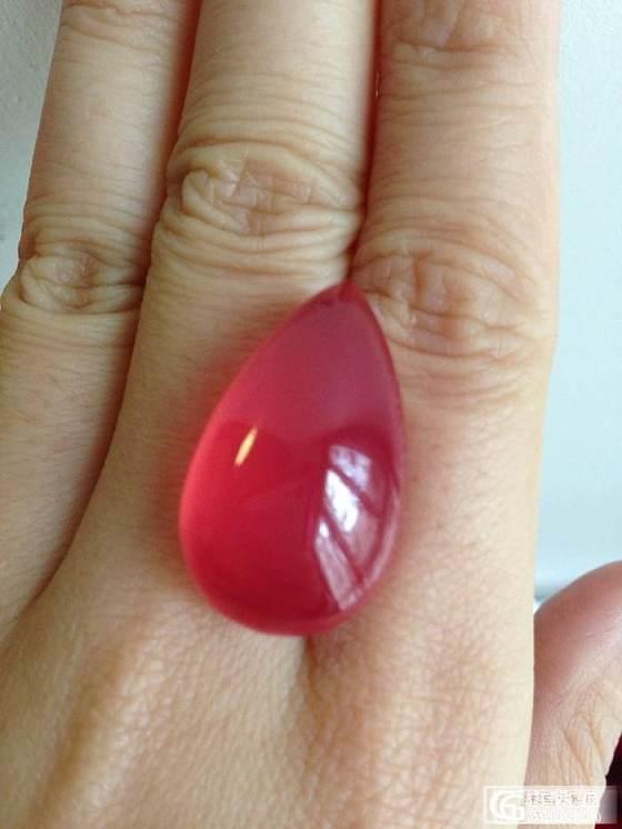 2年前收的大冰红纹石,现在值多少!_蛋面红纹石
