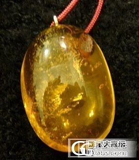 在香港买的琥珀,求鉴定._琥珀