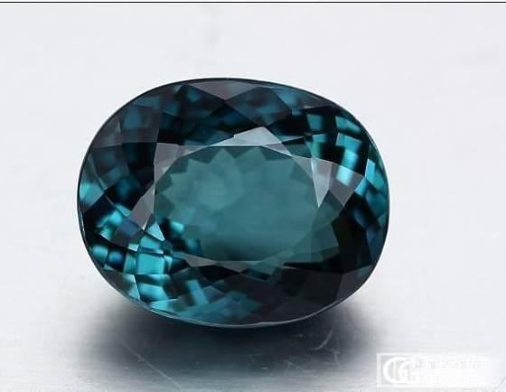 一颗纯蓝色碧玺哦~~非常美丽的蓝色,带有鉴定证书哦~_宝石