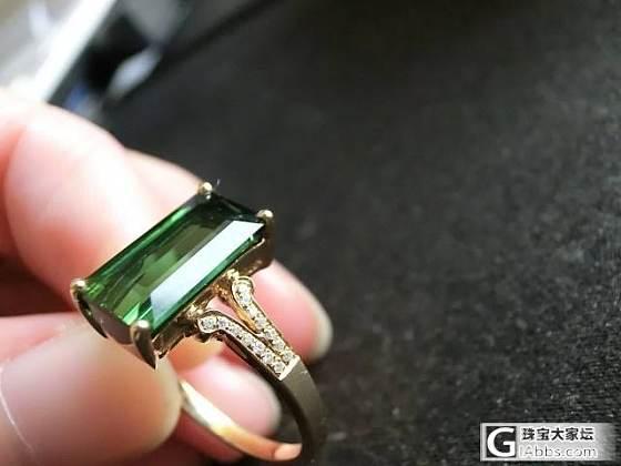 一直想要碧玺,先入了一只绿碧戒指(多多图分享)_碧玺刻面宝石