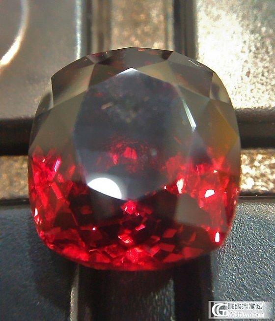 红色石榴石,原来可以这么美的_石榴石刻面宝石