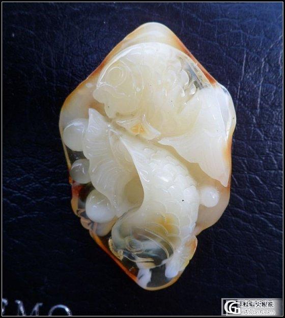 年年有余~~非常漂亮难得的金包白蜜的双鱼~_有机宝石
