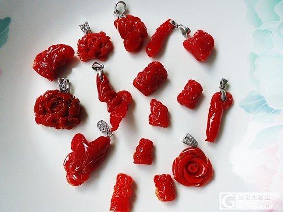 {人在意乡}红珊瑚新货部分集体照 太多了 淘宝慢慢上 另出一条6.5mm沙丁红珊瑚桶珠..._有机宝石