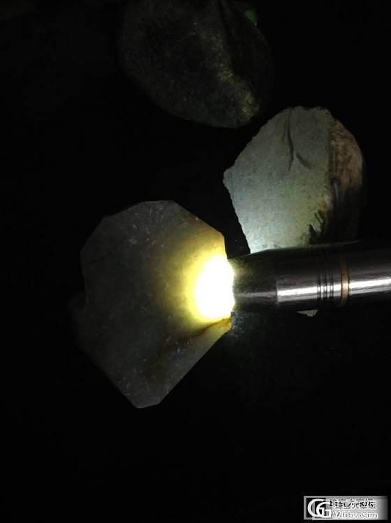 新入一块莫西沙的 原石不小 肉很小_翡翠半成品