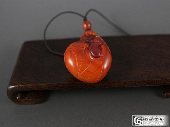 李迅玉雕工作室 玉器批发 南红双欢 28克柿子红包玫瑰红 特价销售_玛瑙