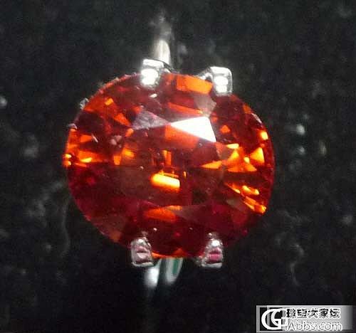 大家看看这颗锰铝榴石的价格咋样_石榴石刻面宝石