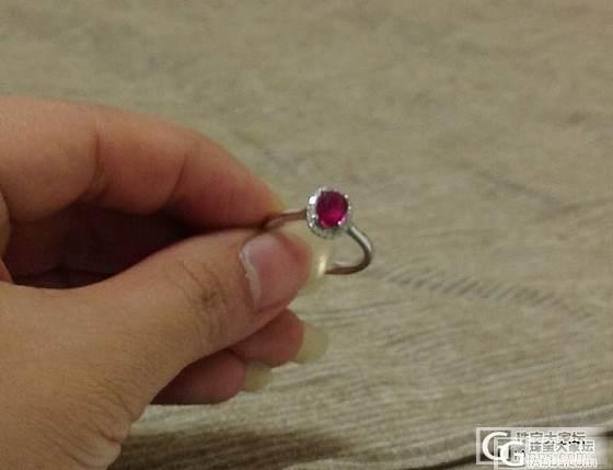 第一个红宝戒指,购于hk,已上图,请轻拍啊_红宝石